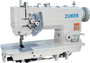 Zuker High Speed Double Needle Lockstitch Industrial Sewing Machine (ZK845)