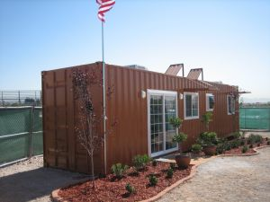 Fashionable Design Shipping Container House with Fittment (Container Cabin) pictures & photos