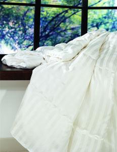 Strip Cotton Satin Mulberry Long Silk Quilt