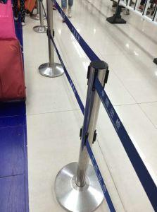 Double Belt Retractable Belt Stanchion for Public Used