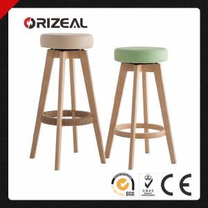 Wooden Swivel Bar Chair (OZ-1127) pictures & photos
