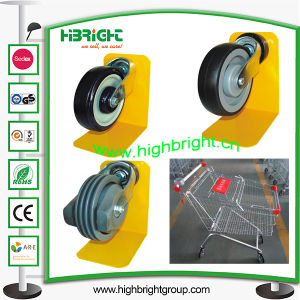 High Quality PU Castors for Shopping Trolleys pictures & photos