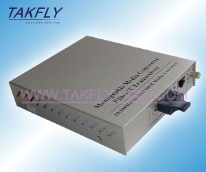 High Quality 10/100/1000m 2SFP+ 4 RJ45 Ports 20km Fiber Optic Media Converter pictures & photos