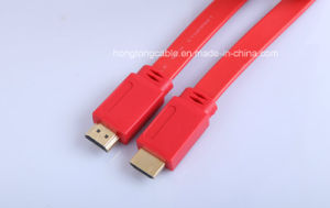 High Speed Flat HDMI Cable Gold Connector Support 4k 2.0V