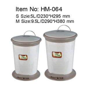 Pedal Garbage Bin with a Inner Pail and Outside Printing in Kitchen (HM-064)