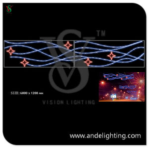 230V 6X1.2m LED Cross Street Decorative Light for Outdoor Christmas pictures & photos