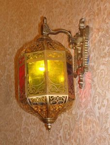 Pw-19345 Copper Wall Lamp with Glass Decorative pictures & photos