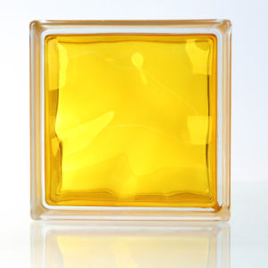 House Decorative Beautiful Yellow Glass Brick/Block pictures & photos
