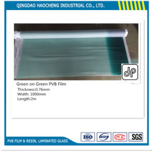 0.76mm Green on Green PVB for Windshield Glass pictures & photos