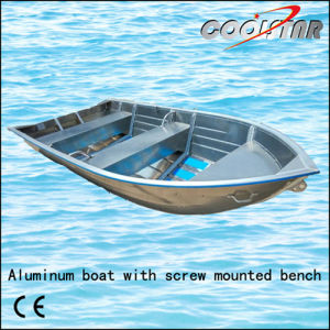 Aluminum Boat with Screw Mounted Bench and Square Gunwale pictures & photos