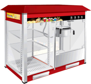 Commercial Electric Popcorn Machine with Food Displayer pictures & photos