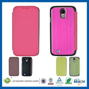 Leather Flip Wallet Aluminum Case for Samsung S4 pictures & photos