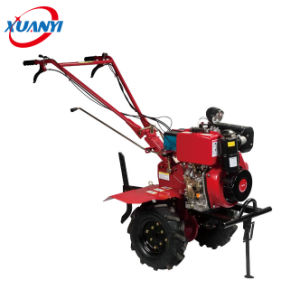 Good-Quality Cheap Diesel Mini Power Tiller Price 6.5HP Rotary Tiller Cultivator pictures & photos