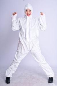 Disposable Microporous Coverall with SGS Certificate, White Non-Woven Coverall pictures & photos