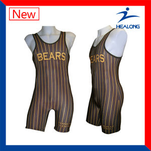 Cheap Youth Mens Custom Sublimation Wrestling Singlets pictures & photos