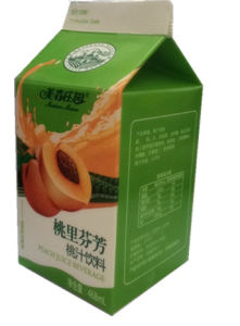 468ml Peach Juice Carton/Gable Top Carton with Caps pictures & photos