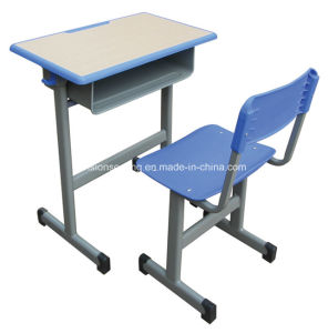 Single Wood School Classroom Student Table and Chair (7502) pictures & photos