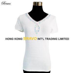 New Design Ladies V Neck S/S Knitted Garment (BR043)