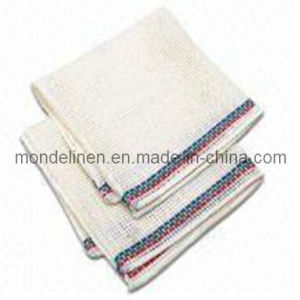 Linen Tea Towel with Color Border