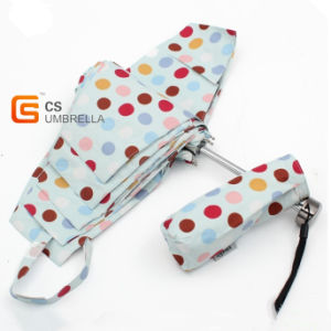 Colorful Dots Cover Mini 5 Folding Umbrella (YSF5003B) pictures & photos