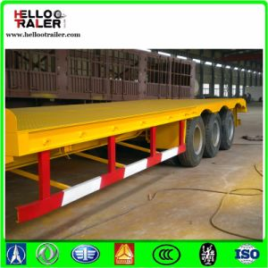 Heavy Load Tri Axle 60 Ton - 80 Ton Drop Deck Trailer pictures & photos