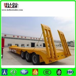 60 Ton 40FT 3 Axle Low Bed Lowboy Semi Trailer pictures & photos