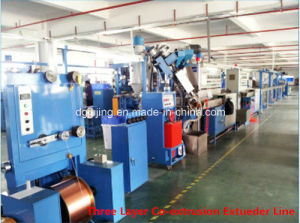 Three Layers Physical Foaming Cable Wire Extrusion Line pictures & photos