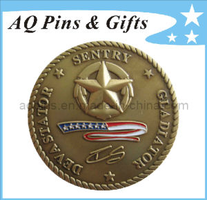 Challenge Coin with 3D Logo pictures & photos