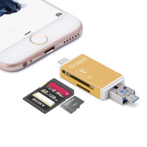SD SDHC Sdxc Lightning Card Reader Microsd Microsdhc Microsdxc 2 in 1 iPhone Card Reader pictures & photos