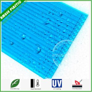 Blue Lexan Cellular Building Material Polycarbonate PC Honeycomb Sheets pictures & photos