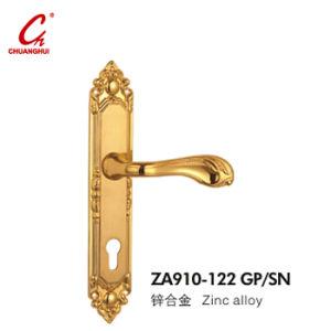 Gold Pull Lock Door Handle Za910 pictures & photos