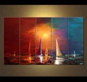 Seascape Sailing Boat Oil Painting pictures & photos