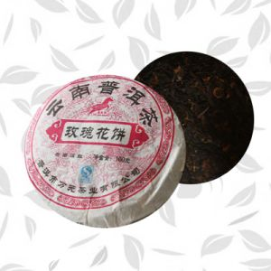 Chinese High Quality Rose Flower Tea in Form of Cake pictures & photos