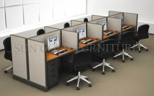 Modern Straight 8 Person Office Cubicle Workstation Cell Center (SZ-WS002) pictures & photos