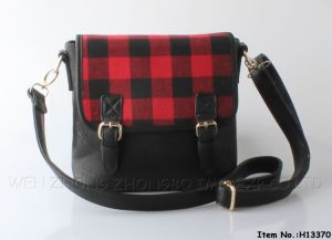 2016 New Plaid Fashion Women Polgester/PU Handbag pictures & photos