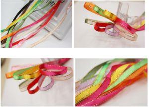 "Wholesale Silk Satin Bowknot Ribbon Size 1/4"" with Golden Edges Design pictures & photos"