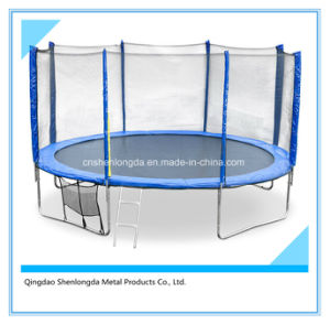 Round Trampoline with Ladder and Outer Safety Net pictures & photos