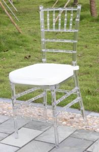Clear Resin Chiavari Chair with Cushion pictures & photos