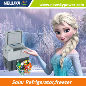 Portable Fridge with Solar Panel 12V 24V Freezer pictures & photos