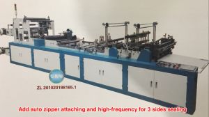 Full Automatic PVC File Zipper Bag Making Machine with Zipper Head Attaching (BC600) pictures & photos