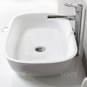 Modern Solid Surfa⪞ E Basin Sink with Cabinet pictures & photos