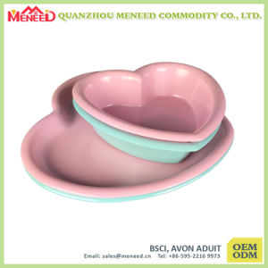 Heart Shape Pink and Green Color Cute Dinner Set pictures & photos