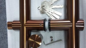 Glass Door Pull Handle Lock pictures & photos