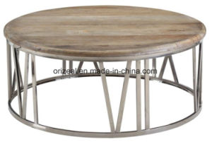 Customizing Modern Luxurious Villas Metal Furniture Design Nordic Wood Coffee Table pictures & photos