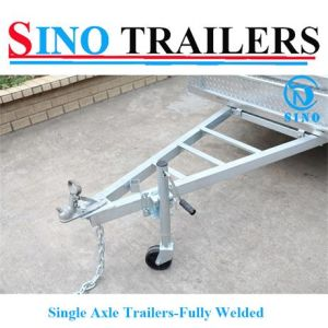 Economic Hot Dipped Galvanized Fully Welded Stronger Single Axle Box Trailer pictures & photos