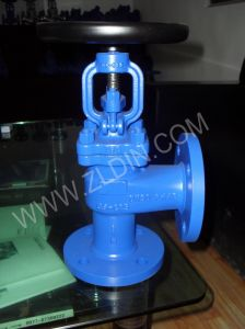 DIN Std. J44h GS-C25 Wcb Angle Type Globe Valve Wenzhou Valve Factory pictures & photos