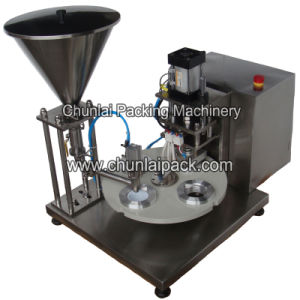 Semi Automatic Rotary Cup Filling and Sealing Machine pictures & photos
