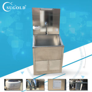 Hospital Medical Equipment Stainless Steel Double Person Hand Washing Sink pictures & photos