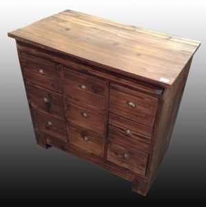 Chinese Fir Square Living Room Wooden Cabinet with Drawers pictures & photos