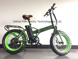 20 Inch Folding Fat Electric Bike Lithium Battery Beach Cruiser pictures & photos